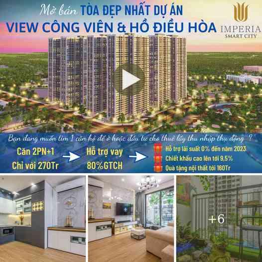 1 tỷ/căn Imperia Smart City, Khu đô thị Vinhomes, Tây Mỗ, Nam Từ Liêm, Hà Nội
